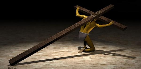 Simon trägt das Kreuz