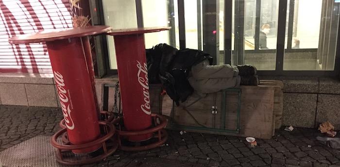obdachlos herrmannplatz
