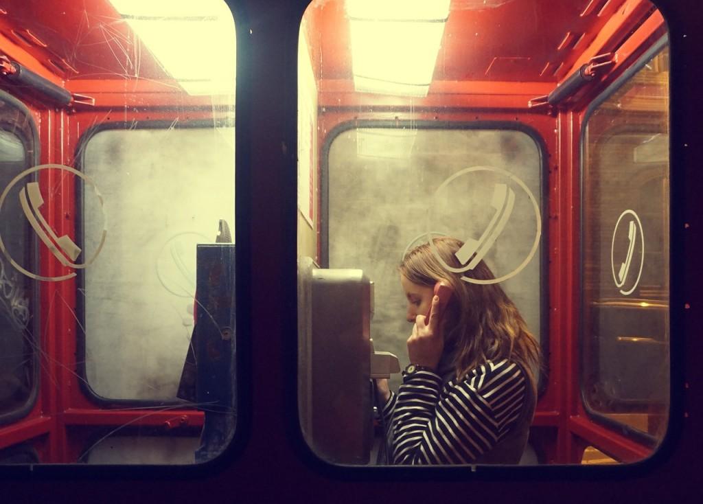 Telefonzelle sprechen